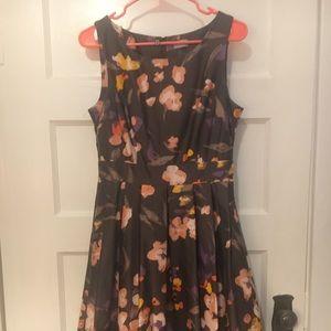 Grey Floral H&M Dress size 10